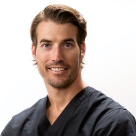 Dr. Rierson Black Scrubs
