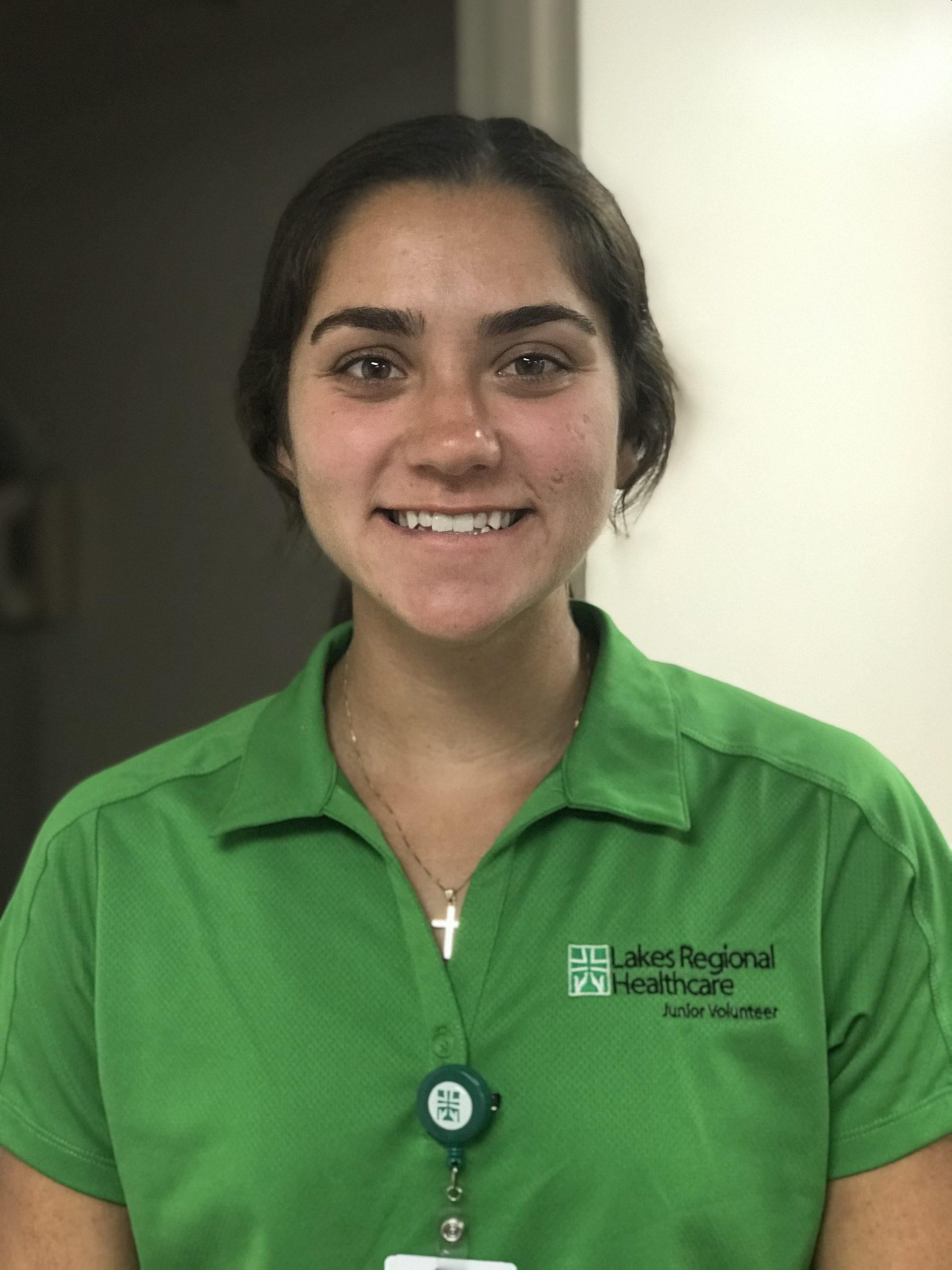 Young female volunteer