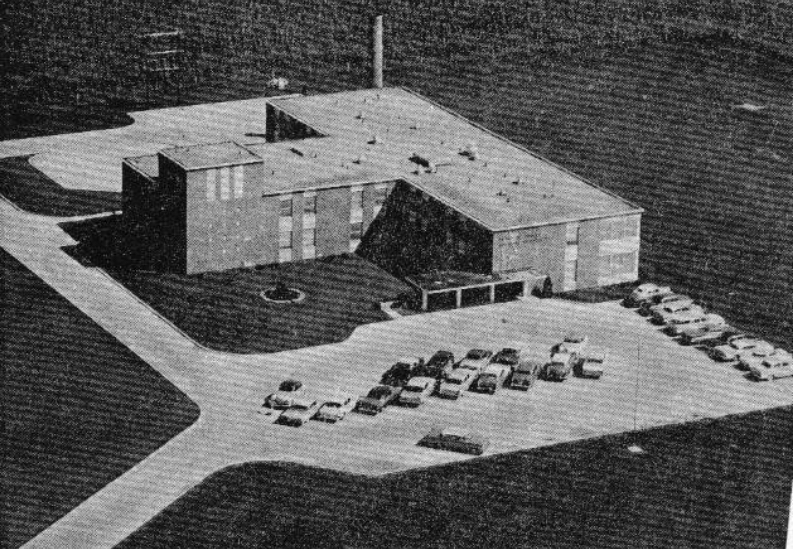 old photo of hospital from air