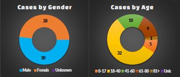 COVID-19 in Dickinson County by Gender