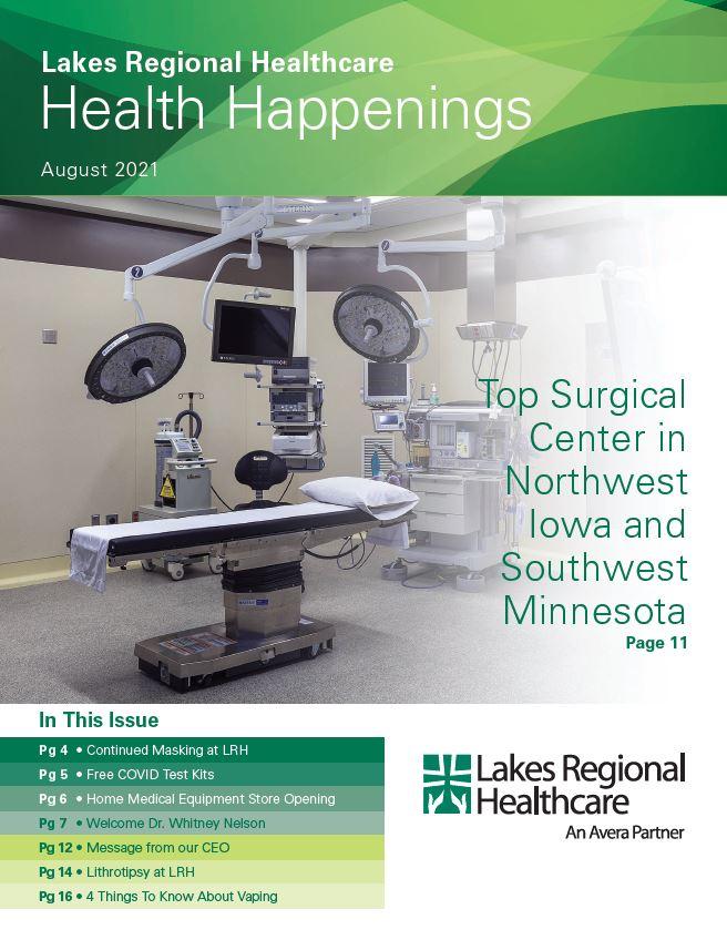 Health Happenings August 2021 Cover